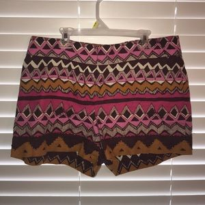 Multicolored Shorts with Gold Sequin
